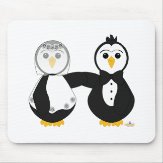 Penguins Getting Married Mouse Mats