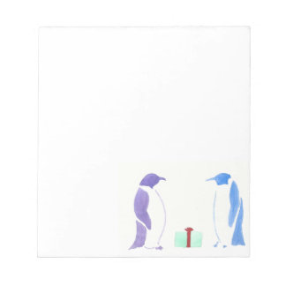 Penguins Giving Gifts Notepad
