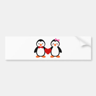 Penguins in Love Bumper Stickers