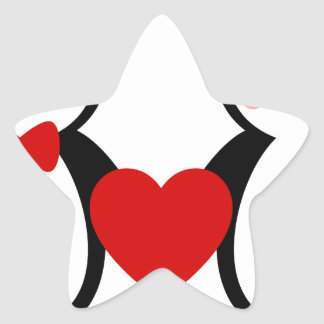 Penguins in Love Star Sticker