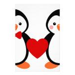Penguins in Love Stationery Design