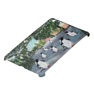 Penguins in the Snow Case For The iPad Mini