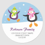 Penguins in the Snow Christmas Address Stickers