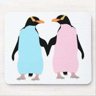 Penguins  ,  Love birds Mouse Pad