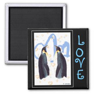 Penguins Love Magnet
