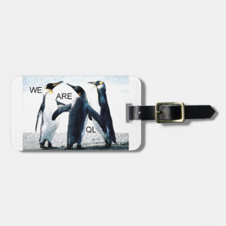 penguins luggage tag