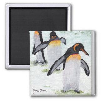 Penguin's March Square Magnet