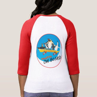 Penguins On Board Ladies T Shirt