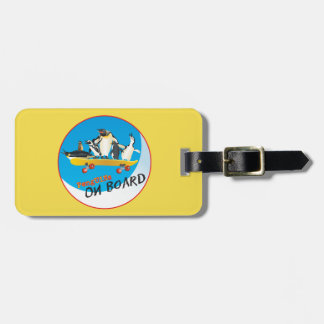 Penguins on Board Luggage Tag