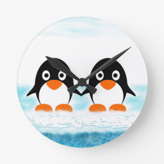 Penguins On Iceburg Clock