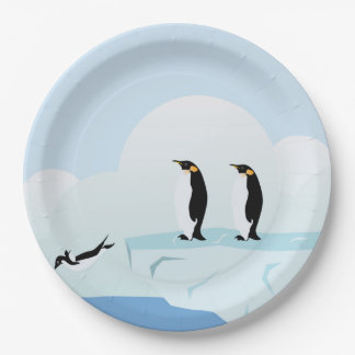 Penguins Paper Plate