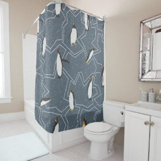 Penguins pattern - Christmas gifts Shower Curtain