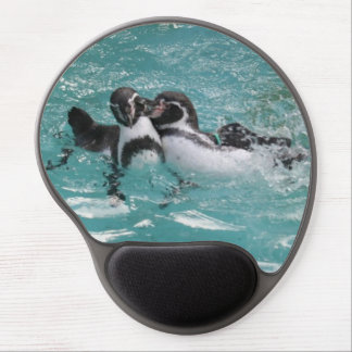Penguins playing in the Water Gel Mouse Pad