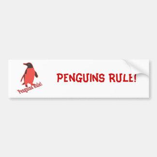 Penguins Rule! Bumper Sticker