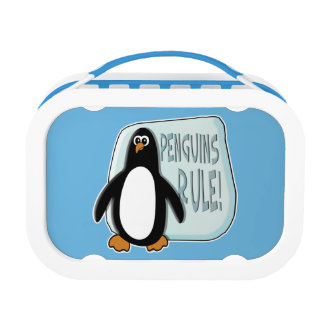 Penguins Rule Lunch Box