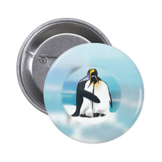 Penguins Through The Igloo 6 Cm Round Badge