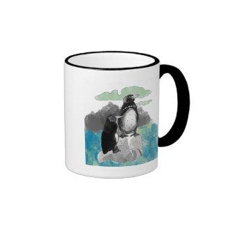 Penguins Watercolor Mugs