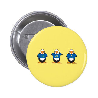 Penguins with Shirts 6 Cm Round Badge