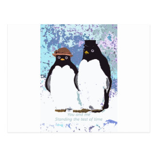Penguins You and Me Standing the Test of Time Postcard