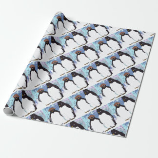 Penguins You and Me Standing the Test of Time Wrapping Paper