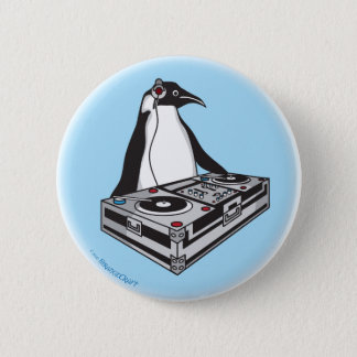 penguinX3[1] 6 Cm Round Badge