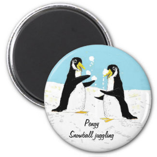 Pengy Penguin, snowball juggling Magnet