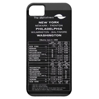 Penn Central Railroad Metroliner Timetable Barely There iPhone 5 Case