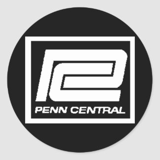 Penn Central Railway Company Logo Classic Round Sticker