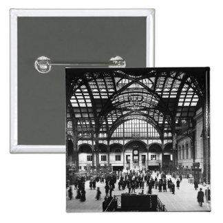 Penn Station New York City Vintage Railroad Pinback Button
