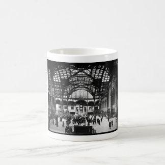Penn Station New York City Vintage Railroad Basic White Mug