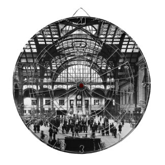 Penn Station New York City Vintage Railroad Dart Board