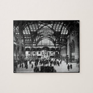 Penn Station New York City Vintage Railroad Jigsaw Puzzles