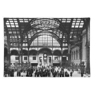 Penn Station New York City Vintage Railroad Placemats