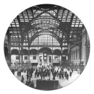 Penn Station New York City Vintage Railroad Dinner Plates