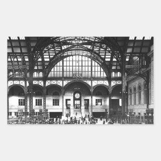 Penn Station New York City Vintage Railroad Rectangular Sticker