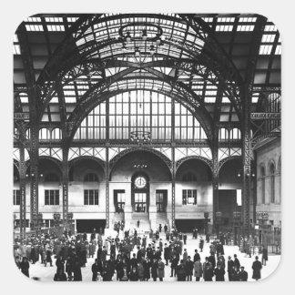 Penn Station New York City Vintage Railroad Square Sticker