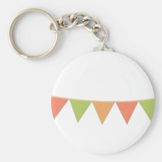 Pennant Banner Basic Round Button Key Ring
