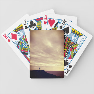 Pennard cliffs at sunset, Gower, Swansea Bicycle Playing Cards