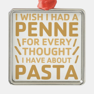 Penne Pasta Metal Ornament