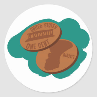 Pennies Classic Round Sticker