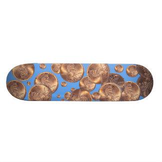 """"""" pennies from heaven """" custom skateboard"""