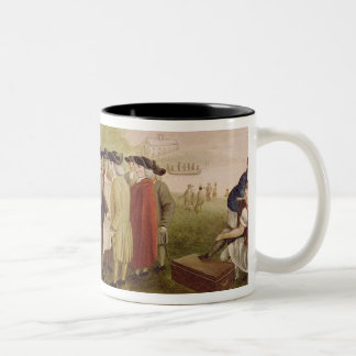 Penn's Treaty with the Indians in 1682, c.1840 Two-Tone Coffee Mug