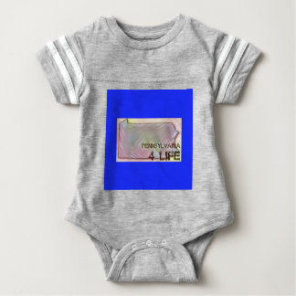 """Pennsylvania 4 Life"" State Map Pride Design Baby Bodysuit"