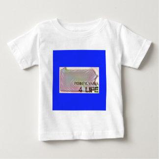 """Pennsylvania 4 Life"" State Map Pride Design Baby T-Shirt"