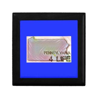 """Pennsylvania 4 Life"" State Map Pride Design Gift Box"