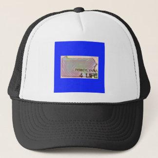 """Pennsylvania 4 Life"" State Map Pride Design Trucker Hat"