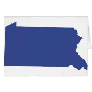 Pennsylvania -a BLUE state Greeting Card