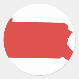 Pennsylvania -a RED state Round Sticker