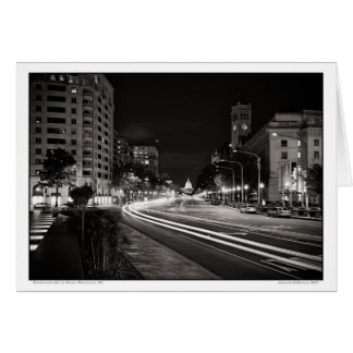 Pennsylvania Ave at Night- Washington, DC Card
