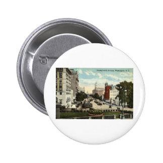 Pennsylvania Ave Washington DC Repro Vintage 1912 6 Cm Round Badge